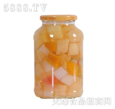 德盛恒700g什锦水果罐头反面