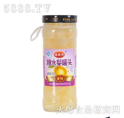 德盛恒450g糖水梨罐头
