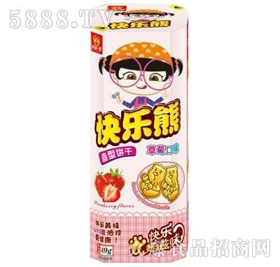 谷部一族快乐熊造型饼干草莓口味49g