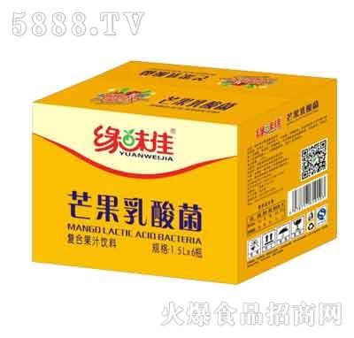 缘味佳芒果乳酸菌1.5Lx6瓶