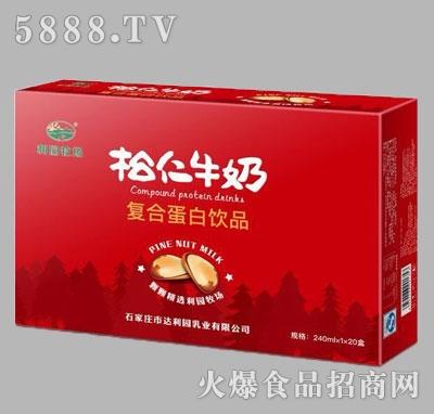 利园牧场松仁牛奶复合蛋白饮品箱(红)