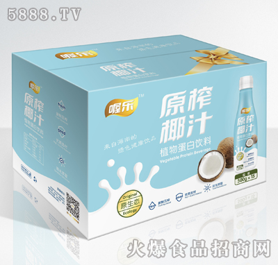 喔乐原榨椰汁500gX15