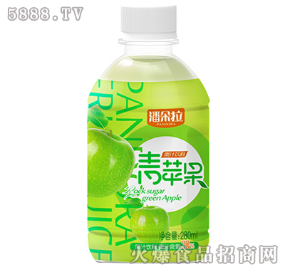 280ml潘多拉青苹果果汁饮料