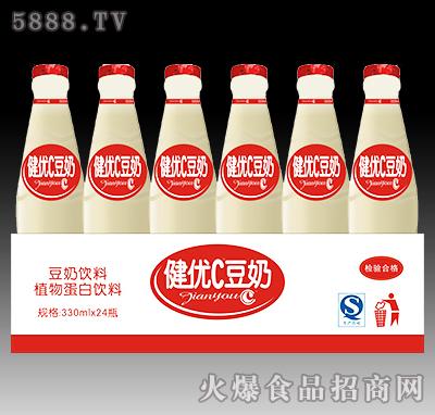 健��C豆奶植物蛋白�料330ml×24瓶