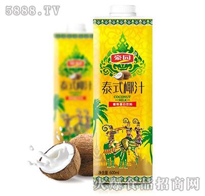 600ml豪园泰式椰汁方盒(黄)