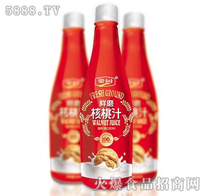 500ml豪园鲜磨核桃汁植物蛋白饮料产品图