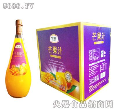 顶乖鲜果榨汁芒果汁1.5l×6瓶