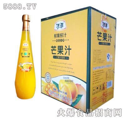 顶乖鲜果榨汁芒果汁828ml×6瓶