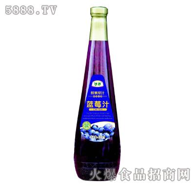 顶乖鲜果榨汁蓝莓汁828ml