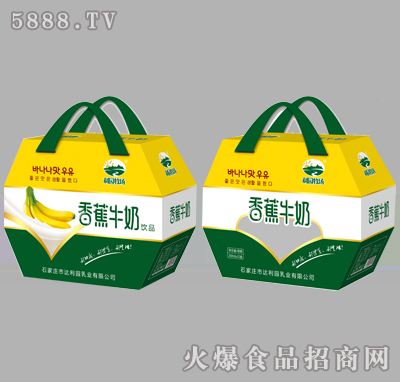 利园牧场香蕉牛奶饮品250mlX12盒