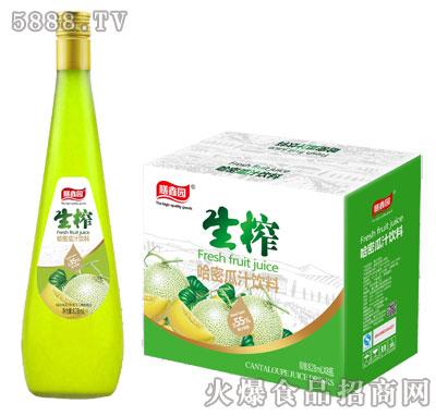膳鑫园生榨哈密瓜汁饮料828mlx8瓶