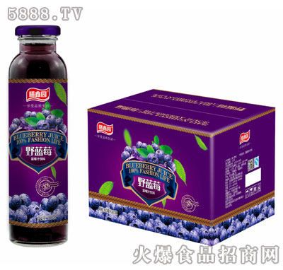 膳鑫园野蓝莓蓝莓汁饮料300mlx15瓶/20瓶