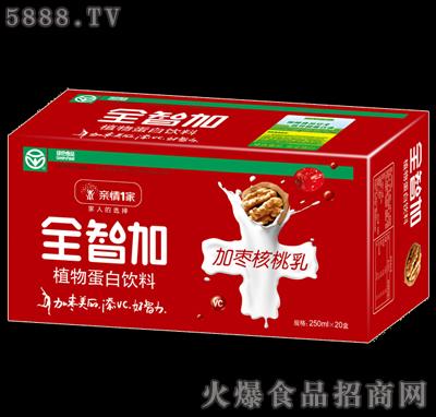 全智加加枣核桃乳250ml×20盒