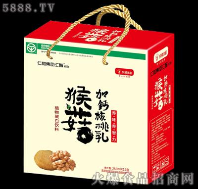 猴菇加钙核桃乳250ml×12盒