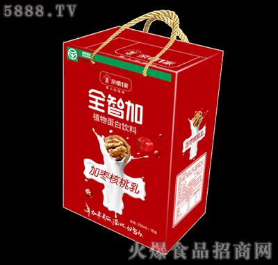 全智加加枣核桃乳250ml×16盒