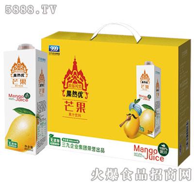 果然优芒果果汁饮料礼盒装