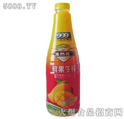三九果然优鲜果生榨芒果汁1.25L