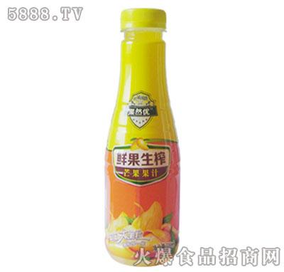 果然优鲜果生榨芒果果汁500ml