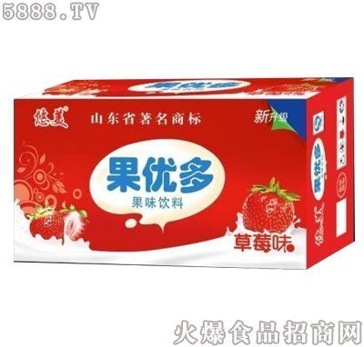 果优多果味饮料草莓味