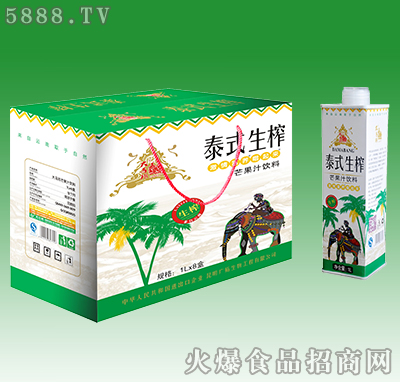 大马邦泰式生榨芒果汁饮料1L×8盒