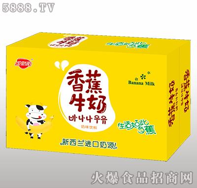 金娇阳香蕉牛奶奶味饮料箱