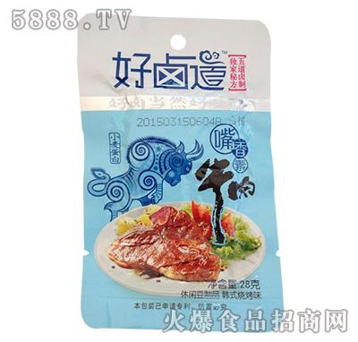 好卤道小麦蛋白嘴香素牛肉韩式烧烤味休闲豆制品28g