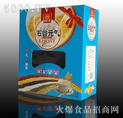 谷部一族五谷元气饼干立式开窗礼盒