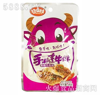 巧嘴娃手撕素牛排香辣牛肉味28g