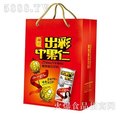 超六出彩中果仁植物蛋白饮料礼品袋效果2