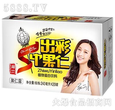 超六出彩中果仁植物蛋白饮料箱240ml×20罐