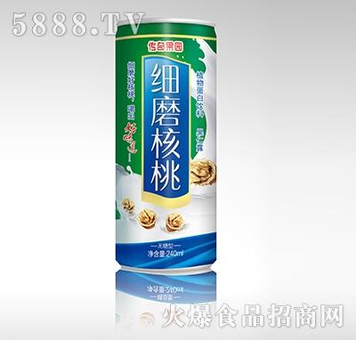 传奇果园细磨核桃植物蛋白饮料-果仁露无糖型240ml