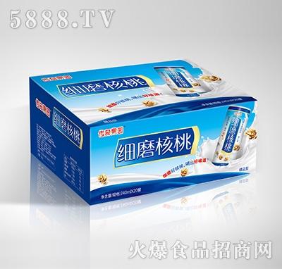 传奇果园细磨核桃植物蛋白饮料-果仁露精品型240mlX20罐