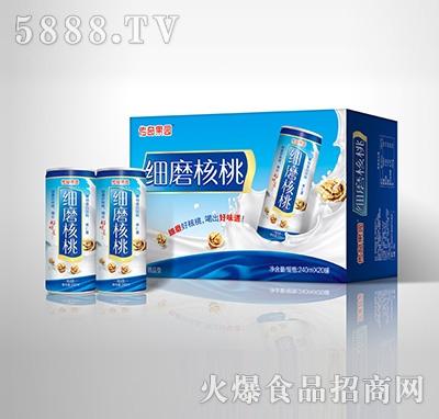 传奇果园细磨核桃植物蛋白饮料-果仁露精品型240mlX20罐箱体产品图