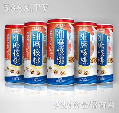 传奇果园细磨核桃植物蛋白饮料-果仁露喜庆精品型240mlX5罐