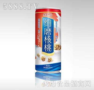 传奇果园细磨核桃植物蛋白饮料-果仁露喜庆精品型240ml产品图