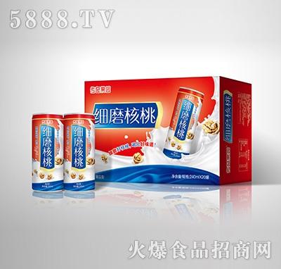 传奇果园细磨核桃植物蛋白饮料-果仁露喜庆精品型240mlX20罐箱装产品图