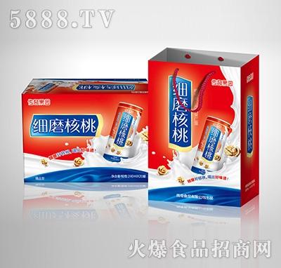 传奇果园细磨核桃植物蛋白饮料-果仁露喜庆精品型240mlX20罐手提礼盒