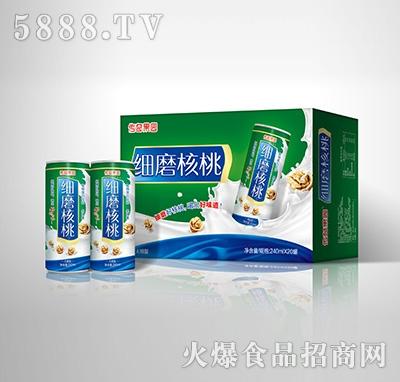 传奇果园细磨核桃植物蛋白饮料-果仁露无糖型240mlX20罐箱装产品图