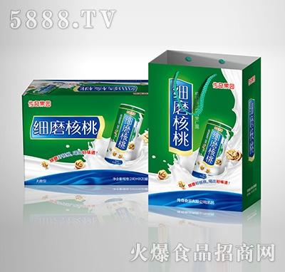 传奇果园细磨核桃植物蛋白饮料-果仁露无糖型240mlX20罐手提礼盒