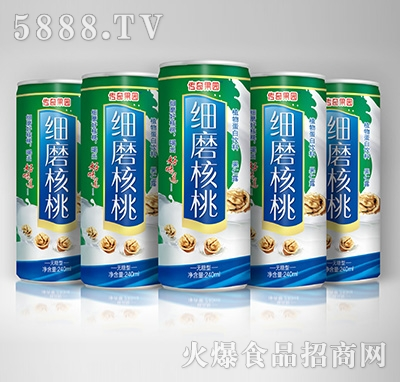 传奇果园细磨核桃植物蛋白饮料-果仁露无糖型240mlX5罐