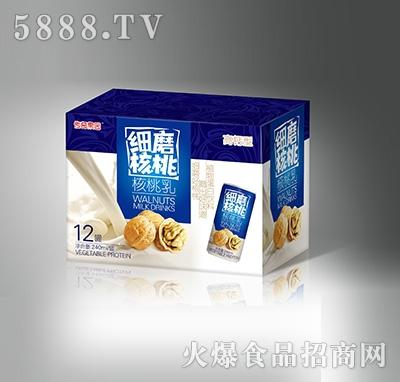 细磨核桃乳高钙型240mlX12罐产品图