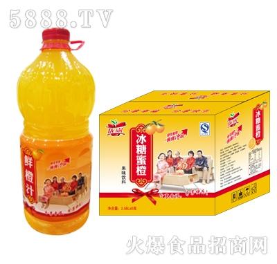 优露冰糖蜜橙箱2.58L×6瓶