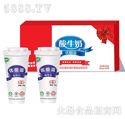 雪原酸牛奶��洛�180g×12杯