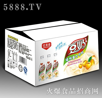 1.25L优果缘豆奶饮品植物蛋白饮料箱装产品图