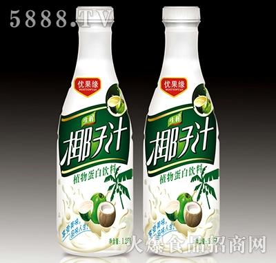 1.25L优果缘生榨椰子汁植物蛋白饮料产品图