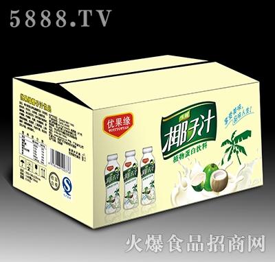 500mL优果缘生榨椰子汁植物蛋白饮料箱装产品图