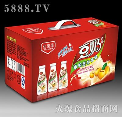 350mL优果缘豆奶饮品植物蛋白饮料礼盒产品图