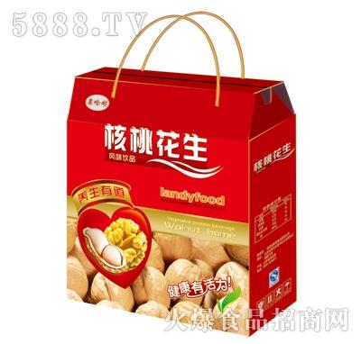 果哈呦核桃花生风味饮品礼盒箱子