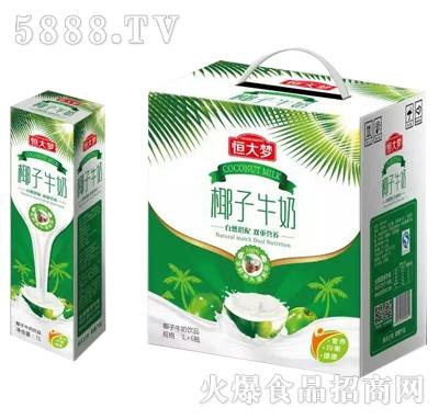 恒大梦椰子牛奶1Lx6