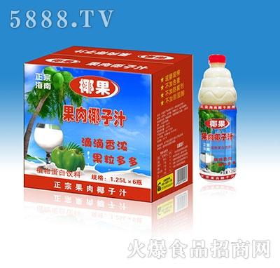 椰果果肉椰子汁1.25Lx6瓶